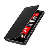 Melkco Book leather case for Nokia Lumia 820, black (NKLU82LCFB2BKLC)