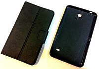 Book Leather Case + TPU Back Cover for Samsung Galaxy Tab 4 7'' T230, black
