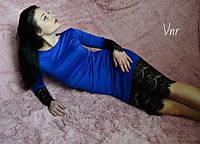 Женское Платье кружево электрик р. 42,44,46, фото 1