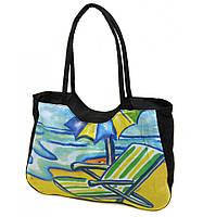 Сумка Женская Пляжная текстиль 1328 black купить дёшево в розницу
