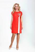 Нарядное платье из льна с коротким рукавом в расцветках