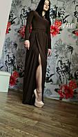 Женское Красивое платье в пол цвет - шоколад