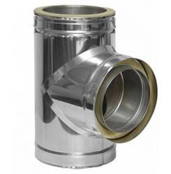 Тройник  87˚ из нержавеющей стали с теплоизоляцией Ø100-300