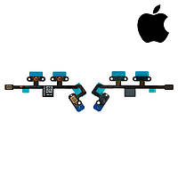 Шлейф для Apple iPad Air 2, боковой кнопки, с компонентами (оригинал)