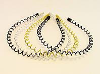 Обруч для волос пружинка металл-12 шт.- Ø 12,0 см.