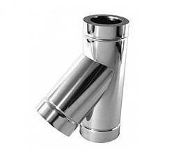 Тройник 45˚ из нержавеющей стали с теплоизоляцией Ø100-300