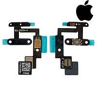Шлейф для Apple iPad Air 2, кнопки включения, микрофона, с компонентами (оригинал)