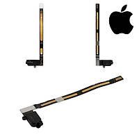 Шлейф для Apple iPad Air 2, коннектора наушников, с компонентами, черный (оригинал)