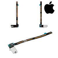 Шлейф для Apple iPad Air 2, коннектора наушников, с компонентами, белый (оригинал)