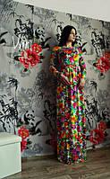 Женское Красивое платье в пол цветы