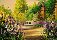 «Цветущая аллея» картина маслом