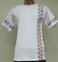 Трикотажная футболка вышиванка мужская, интерлок, р.р. 40-62.