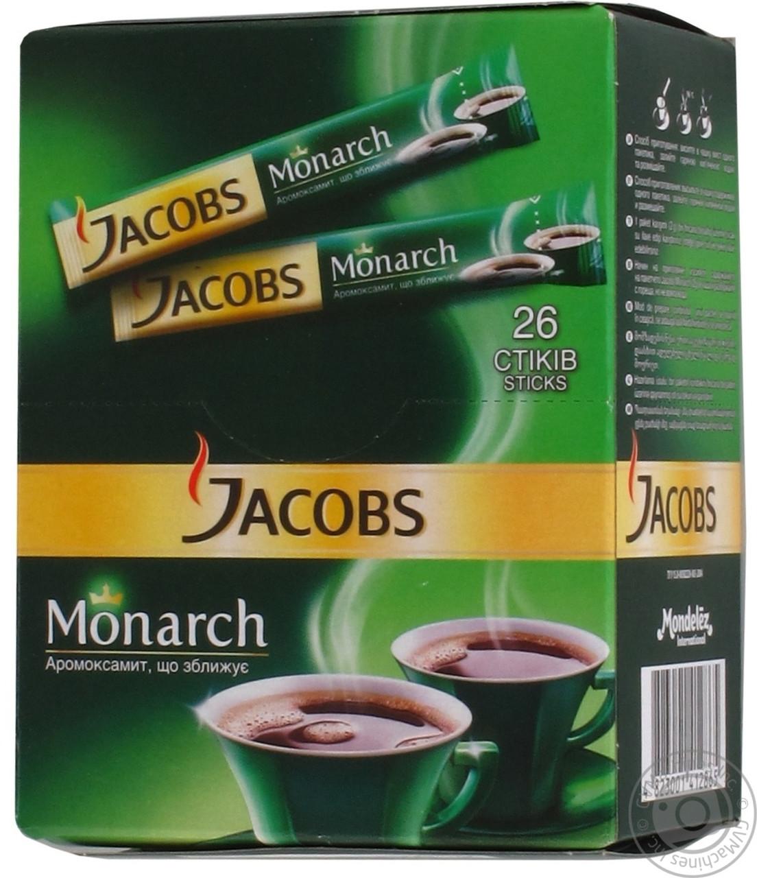 Кофе Jacobs Monarch стик 26 шт.