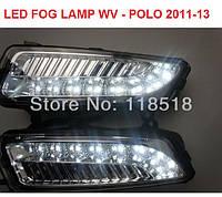Противотуманные фары Volkswagen VW new Polo 2011 - 2013 LED DRL, фото 1