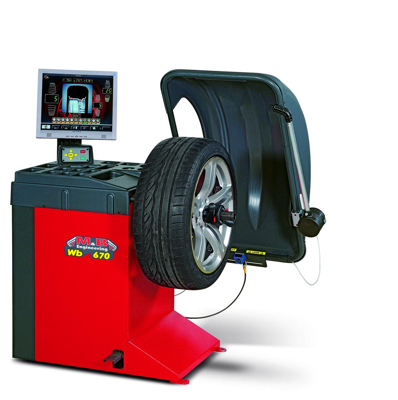 Балансировочный станок автомат WB670 M&B Engineering