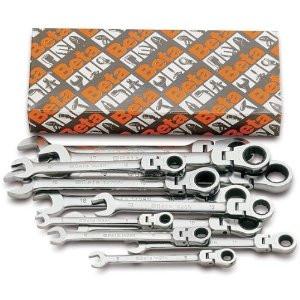 142SN/S13 - Набор ключів рожково накидний з поворотною головкою 13 штук