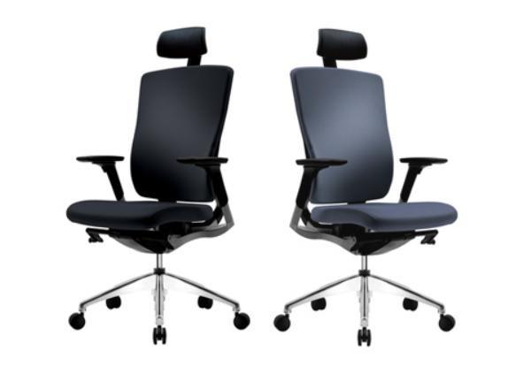 Кресло компьютерное c подголовником FLEX черный