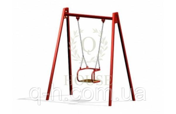 Качели одинарные на цепях, фото 2