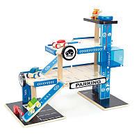 Паркинг деревянный  игровой комплекс для мальчика