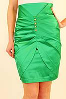 Нарядная юбка с завышенной талией 42-48 р ( белый, салатовый, зеленый )