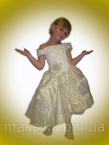 Прокат. Платье беж-золото, фото 2