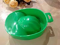Ванночка для маникюра зелёная