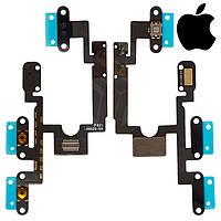 Шлейф для Apple iPad Mini 4, боковой кнопки, кнопки включения, с компонентами (оригинал)
