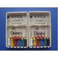 K-FILE, Dentsply Maillefer (K-файлы). №0.8;№10;№15;№20;№25;№15-40