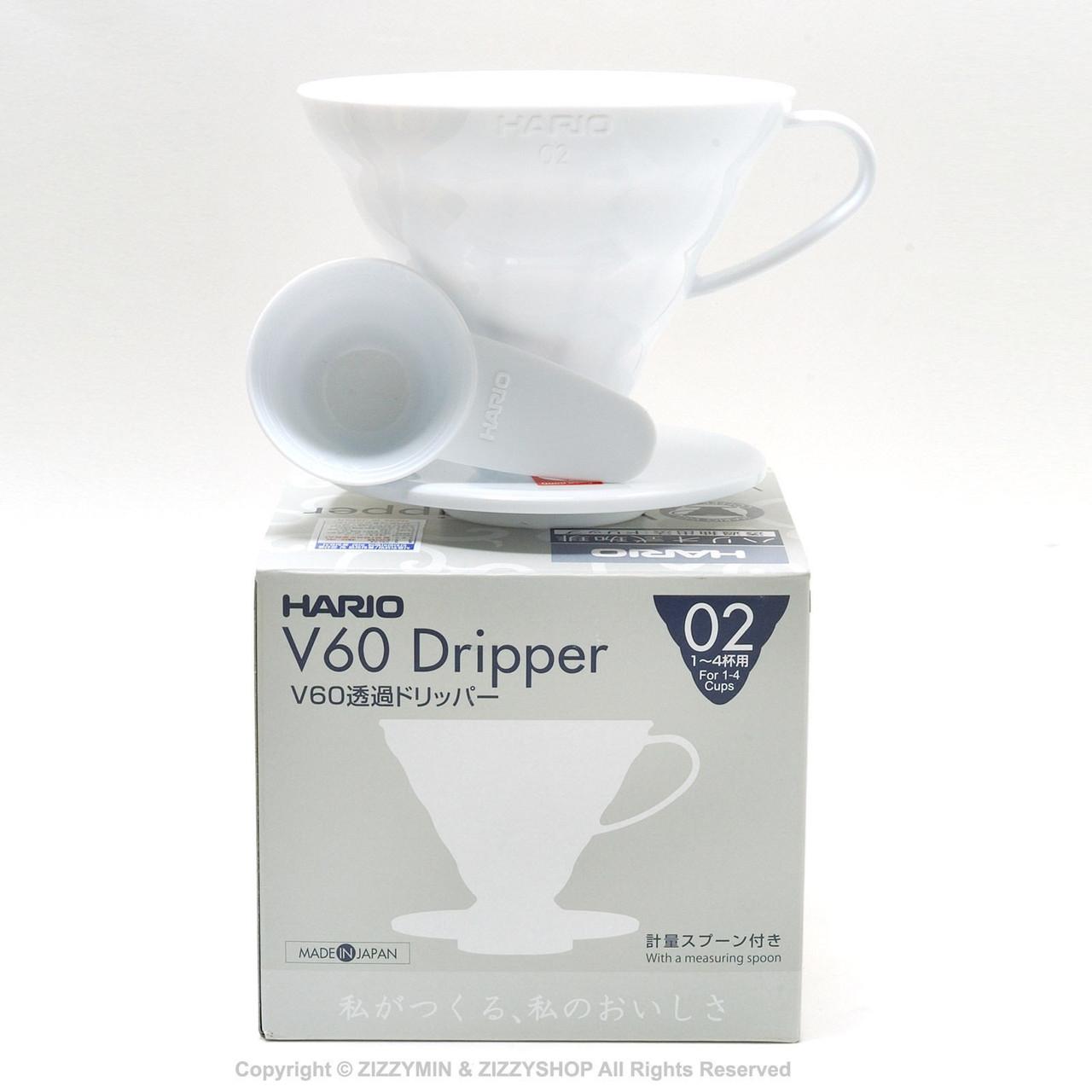 Пластиковый пуровер Hario V60 02 White (600 мл)