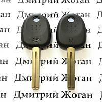 Корпус авто ключа под чип для Hyundai Grandeur, i20, i30, ix35 (Хюндай Грандер), лезвие TOY40