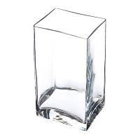 Ваза прямоугольная стеклянная Pasabahce Flora 100*80*180мм