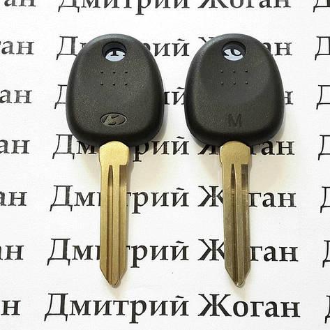 Корпус авто ключа под чип для Hyundai (Хундай) левый без упоров, фото 2