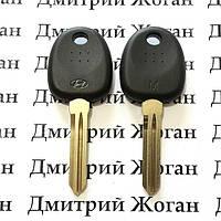 Корпус ключа под чип для Hyundai Elantra, i10, Santa fe, Sonata, H1 (Хундай Элантра, Санта Фе), лезвие HYN14R