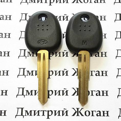 Корпус авто ключа под чип для Hyundai Sonata(95-04), Santa Fe(00-02), Traget (Хундай), лезвие HYN7R, фото 2