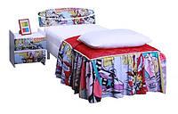 Кровать 0,8х2 односпальная Кэнди (МДФ принт)