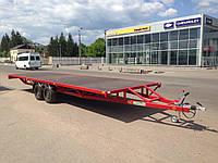 Прицеп платформа для перевозки аттракционов. 8м х 2,4м. Тормоза 3т!, фото 1