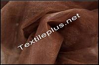 Тюль фатин коричневый
