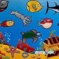 Детский коврик «Мультики: морское дно»
