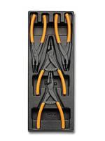 T145 - Набор плоскогубців для стопорних кілець 4 предмети