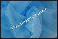 Тюль фатин голубой