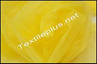 Тюль фатин желтый