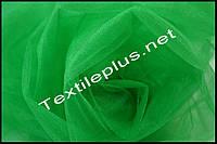 Тюль фатин зеленый