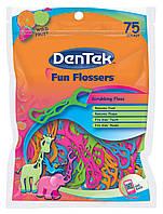 Детские флоссы с держателем DenTek Fun Flossers 75 шт, фото 1
