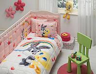 Набор в кроватку, защита, одеяло TAC LOONEY TUNES TWEETY AND BUGS BUNNY BABY