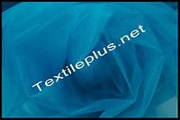 Тюль фатин морская волна