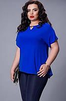 Стильная женская блуза в модных расцветках, размеры 50-58