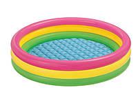 """Детский надувной бассейн """"Радужный"""" Intex 57412 114*25см, детский бассейн, бассейн интекс, бассейн для детей, фото 1"""