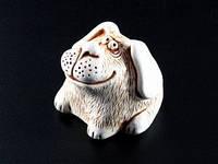 Статуэтка Собачка Ушастая гипс