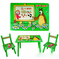 Столик и два стульчика детский Маша и Медведь