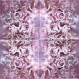 Декупажная салфетка Розы в инее 5813, фото 2